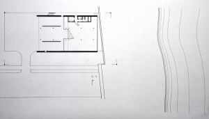Site plan showing cabana under deck