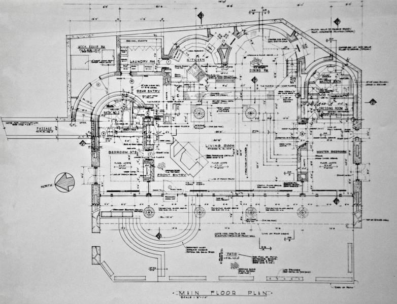 HILLSIDE HOUSE working drawings first floor plan Joel Levinson – Hillside House Floor Plans