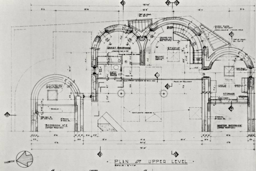 HILLSIDE HOUSE rear elevation second floor plan and front – Hillside House Floor Plans