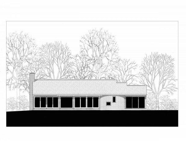 MASER RESIDENCE - MATHA'S VINEYARD - rear elevation