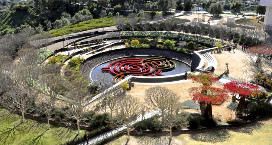 Robert irwin's garden design at the Getty Center in Los Angeles 0773