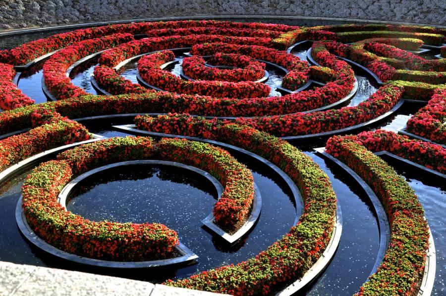 Robert irwin's garden design at the Getty Center in Los Angeles 0981