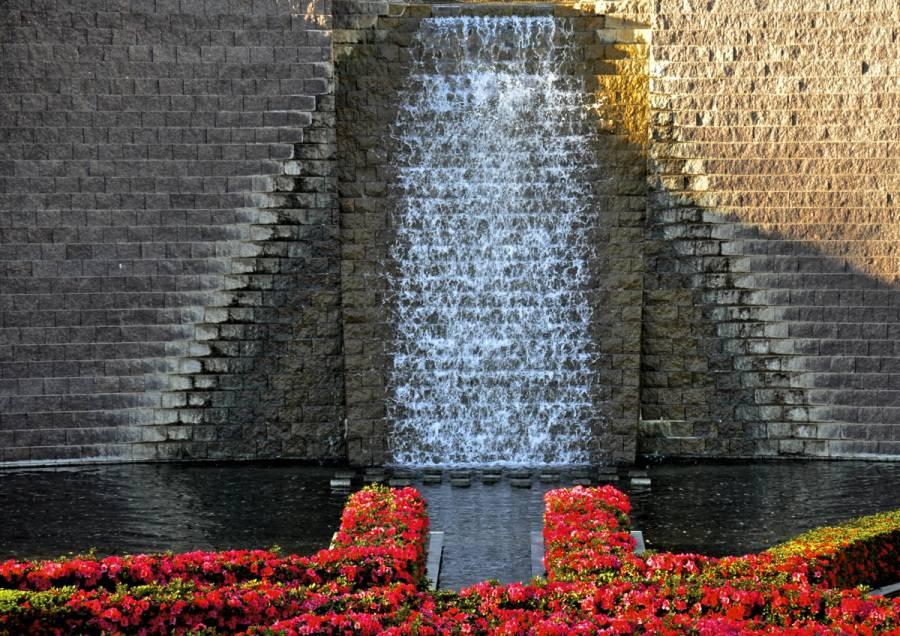 Robert irwin's garden design at the Getty Center in Los Angeles 0994