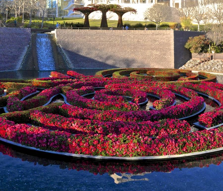 Robert irwin's garden design at the Getty Center in Los Angeles 1010