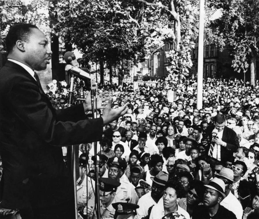 Joel At Mlk Speech At Girard College 1968