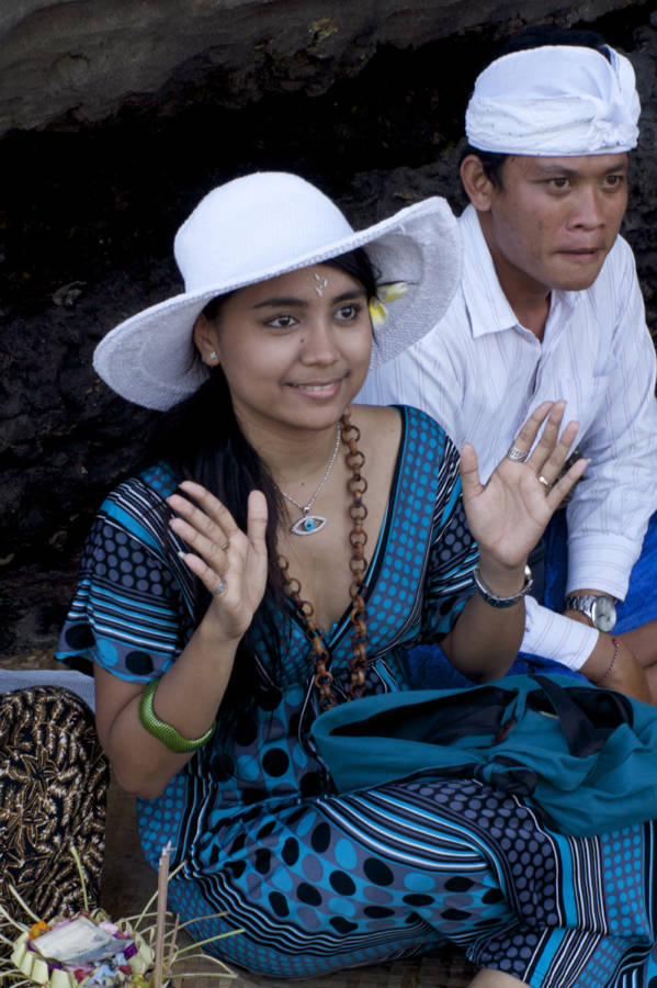At The Cave Of The Snake Bali 0493