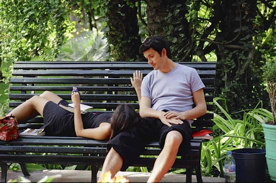 Lovers In Yves Saint Laurent' S Garden