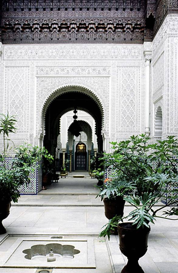 Planted Courtyard In The Palace