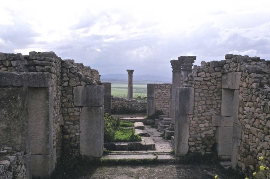 Roman Column Morocco