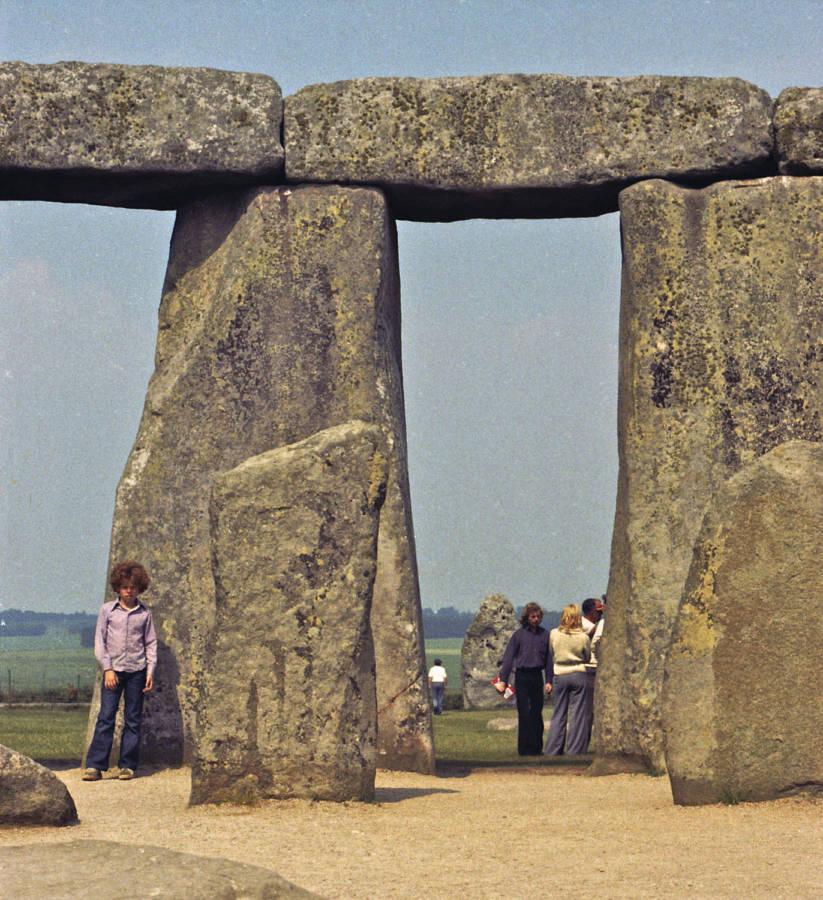 Aaron At Stonehenge 1973